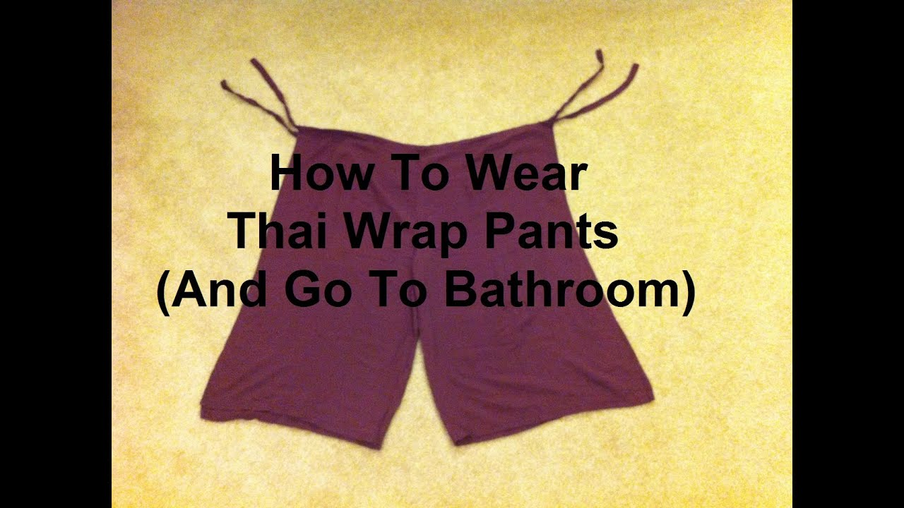 Watch - How to wear and make wrap pants video