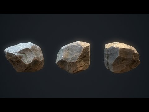 Easy Lowpoly Rocks Tutorial - 3ds max