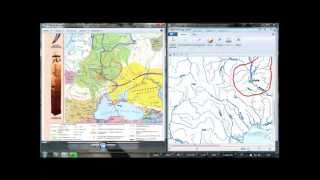 Виконання  контурної карти в Paint