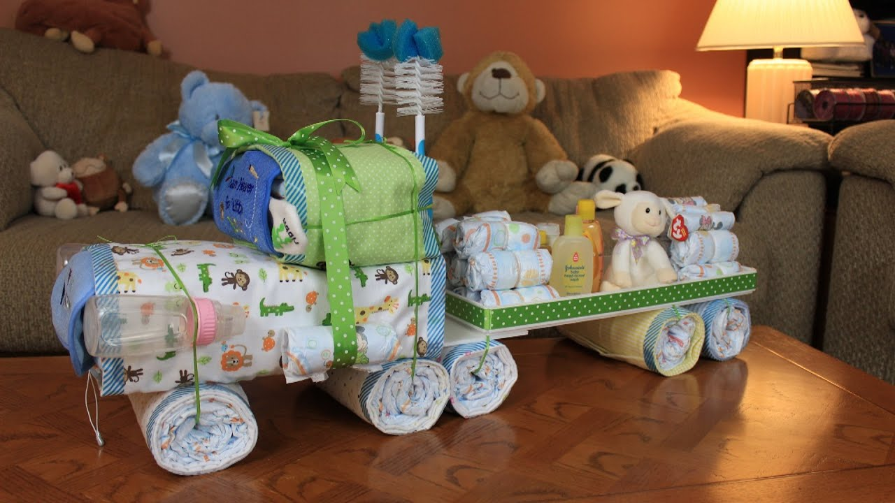 Semi Truck Diaper Cake How To Make YouTube