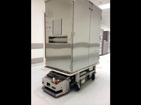 SAVANT 'Target-free' AGV Hospital Cart Transportation System