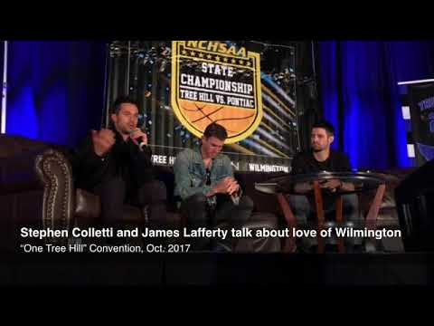 """Stephen Colletti and James Lafferty talk about love of Wilmington at """"One Tree Hill"""" convention Sund"""