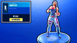 FORTNITE NEW LAUGH IT UP EMOTE! NOUVELLE MISE À JOUR DE MAGASIN D'ARTICLE ! V-BUCKS GIVEAWAY FORTNITE BATTLE ROYALE