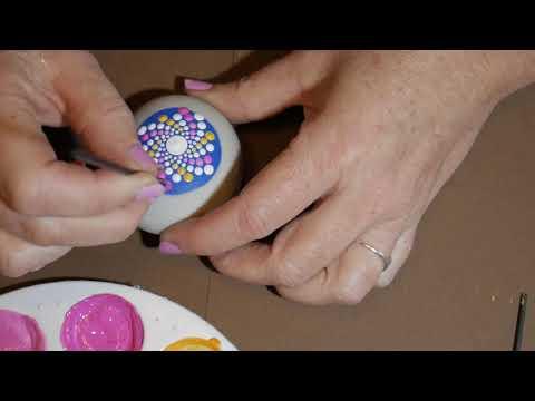 How to paint dot mandalas- #21 Candy Spiral