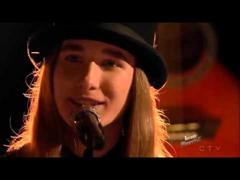 Sawyer Fredericks' moments, in between on the Voice Season # 8