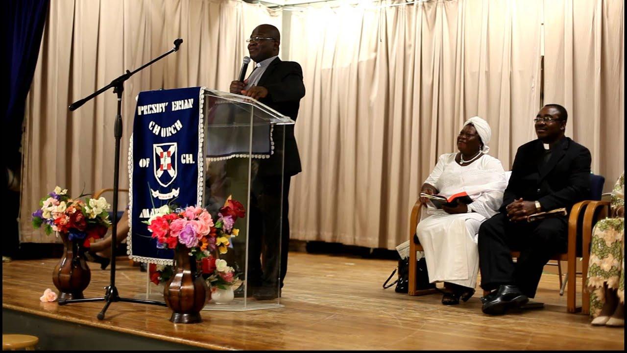 preacher preaching in church