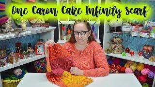 One Caron Cake Infinity Scarf