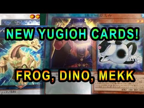TONS OF NEW YUGIOH CARDS! NEW FROG, RA SUPPORT, SPELL COUNTERS, DINO LINK!  Mekk-Knight
