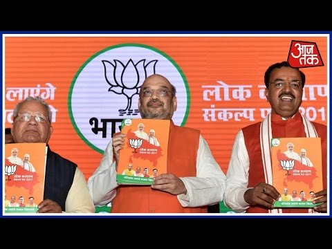 Amit Shah Launches BJP Manifesto; Revives Ram Mandir Agenda, Talks Development