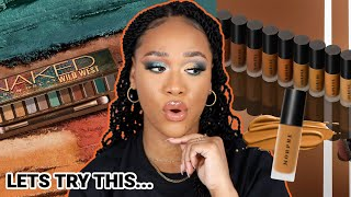 TESTING NEW MAKEUP! MORPHE FILTER EFFECT FOUNDATION & URBAN DECAY NAKED WILD WEST PALETTE...