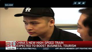 China launches one of world's fastest trains