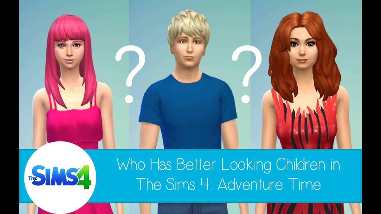 who has better looking children in the sims 4 adventure. Black Bedroom Furniture Sets. Home Design Ideas