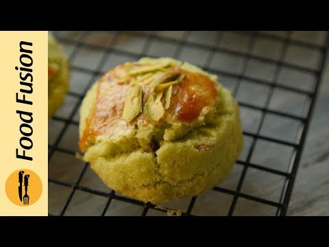 Pista Naan Khatai without oven  Recipe By Food Fusion