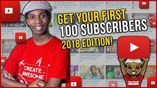 Video How to Get  Your First 100 Subscribers on YouTube in 2018 download MP3, 3GP, MP4, WEBM, AVI, FLV Juli 2018