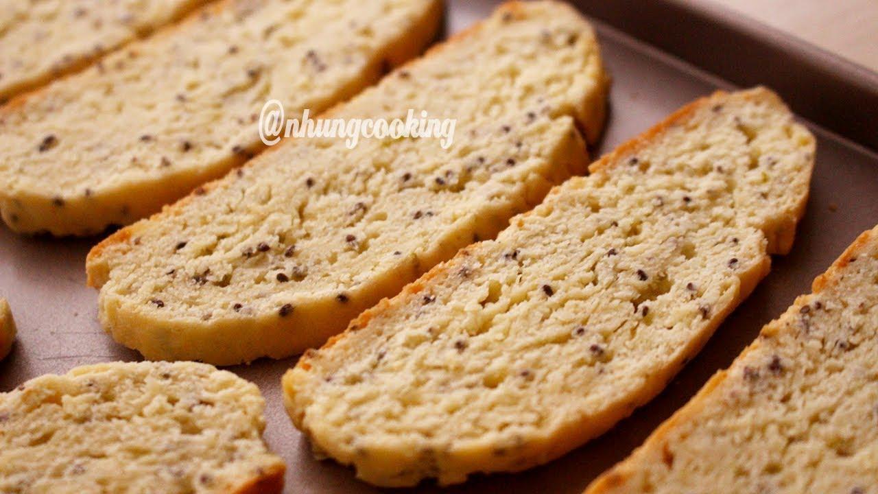 Làm BÁNH BISCOTTI Vị Tắc và Hạt Chia / Biscotti with kumquat & chia seeds flavor