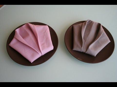 Servietten falten Smoking napkin folding Smoking  YouTube