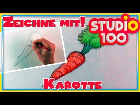 Karotte – Zeichnen lernen für Anfänger – Schritt für Schritt!