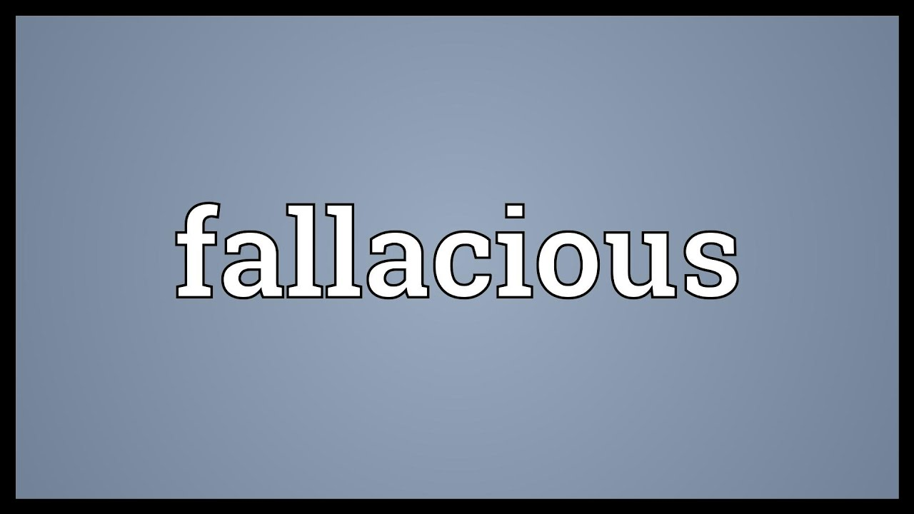 Fallacious Meaning - YouTube