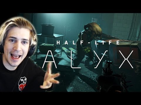 xQc Reacts to Half-Life: Alyx Gameplay Videos