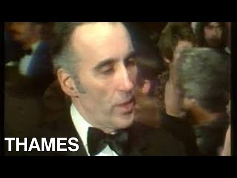 Christopher Lee   Royal film premier  Three Musketeers  1974