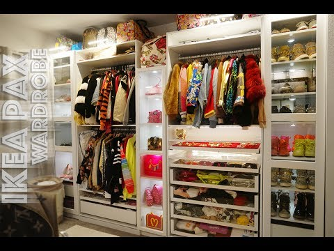 walk in barbie closet tour 2017 ikea pax wardrobe closetgoals youtube. Black Bedroom Furniture Sets. Home Design Ideas