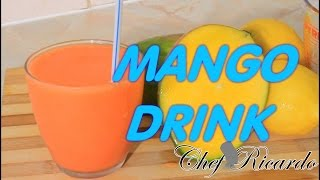 Mango And Strawberry Berry Syrup Drink-home-made Recipe From Chef Ricardo Cooking
