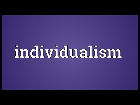 Individualism Meaning