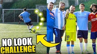 NO LOOK FOOTBALL CHALLENGE!!! w/Fius Gamer & Tony Tubo