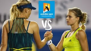 Kirilenko vs Sharapova | 2010 Australian Open Highlights