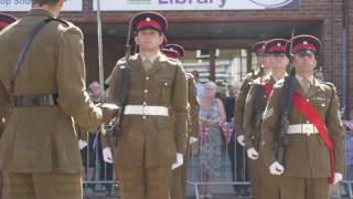 Royal Anglian Regiment's Freedom of Entry March in Hoddesdon