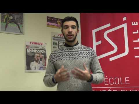 Présentation des étudiants de la Licence Journaliste de sport ESJ Lille (promo 1)