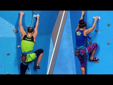 TUF Moments: Ronda Rousey vs Miesha Tate Coaches Challenge | Rock Climbing