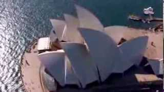Aerial, Sydney Opera House Birds Eye View, HD
