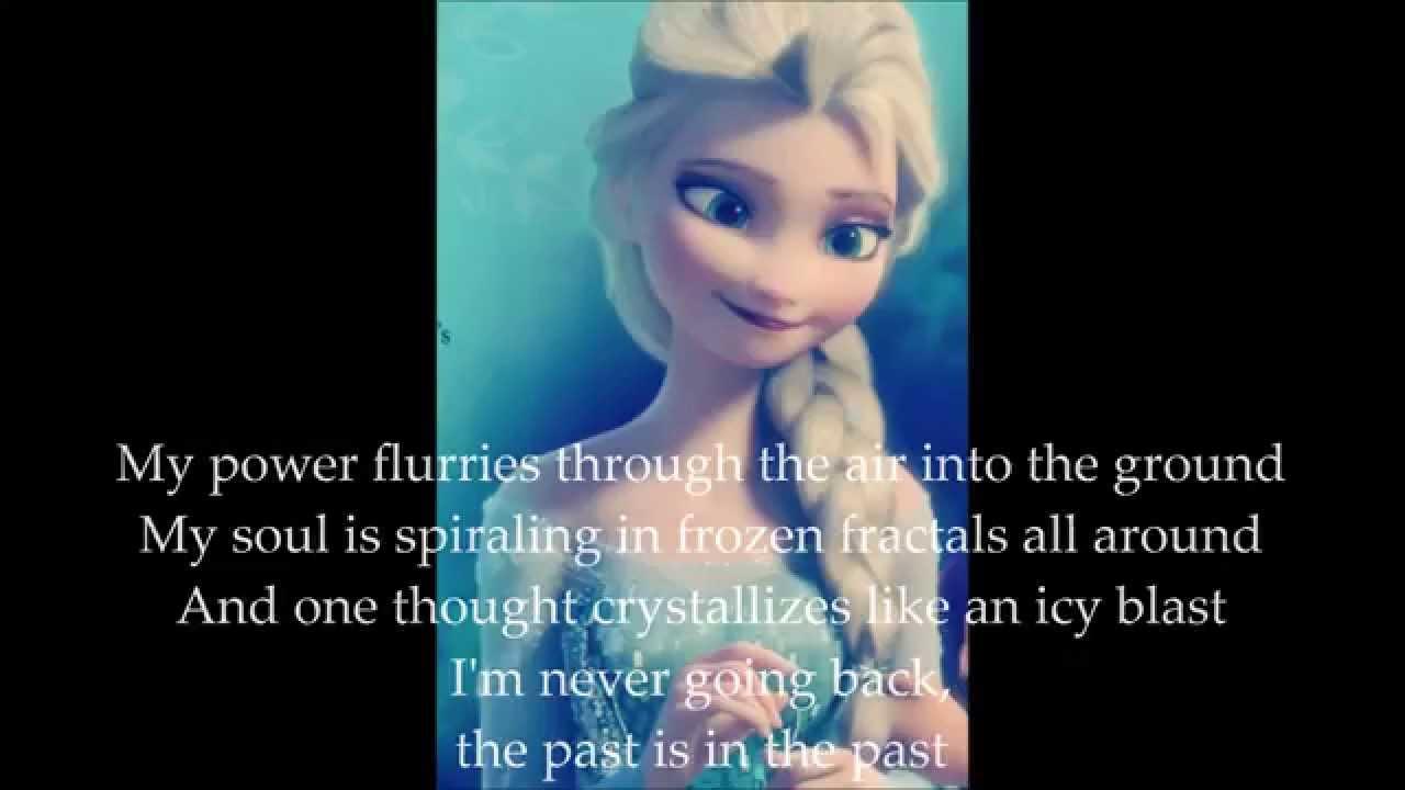 Frozen Let it Go Lyrics By Idina Menzel - YouTube