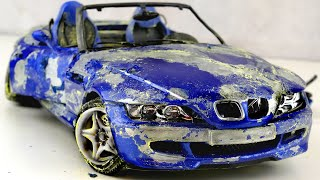 Restoration damaged BMW M Roadster tuning Model Car by Good Restore