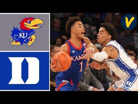 2019 College Basketball #3 Kansas vs #4 Duke Highlights