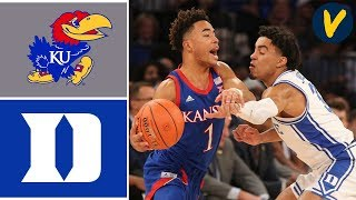 2019 College Basketball #3 Kansas vs #4 Duke Highlights