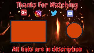Best Simple Flame Outro Template Download ll Download Link In Description ll