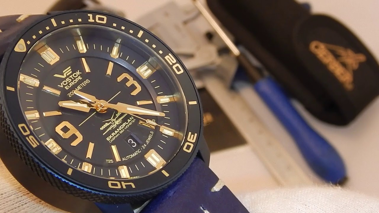"Video recenzja  Vostok Europe Ekranoplan ""Caspian Sea Monster"" Diver  Automatic 7bc501f261a"