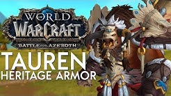 Tauren Heritage Armor - In Game Preview | Battle for Azeroth