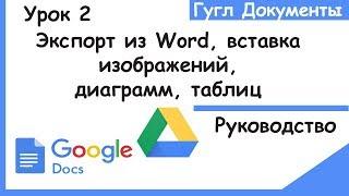 гугл документы для начинающих.Импорт Word,вставка изображения,диаграммы,таблицы.Google docs.Урок 2