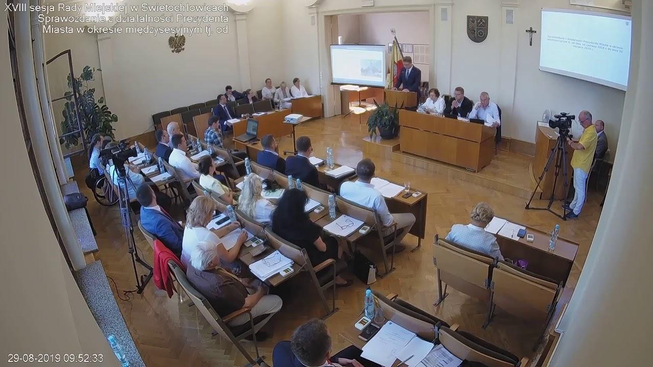 XVIII sesja Rady Miejskiej 29.08.2019