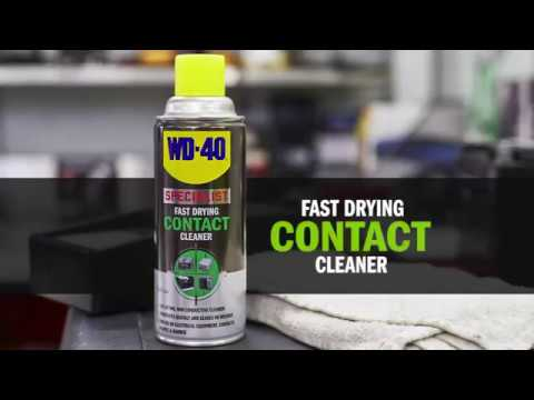 How to use WD-40 SPECIALIST Fast Drying Contact Cleaner