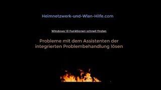 Windows 10 Assistent zur Problembehandlung von Windows-Problemen nutzen