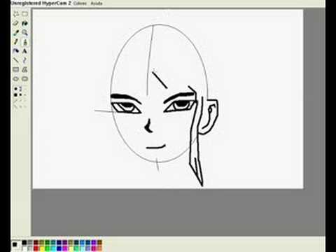 aprender a dibujar anime por paint - YouTube
