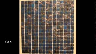 Pool Tiles Designer glass tiles MGG & Gold Star