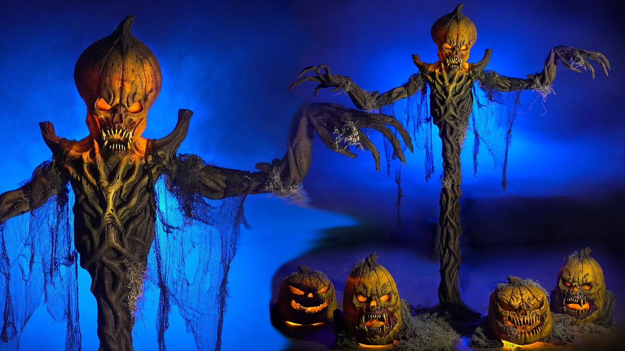 Evil Pumpkin Stalker Halloween Props & Animatronics | Stalked by Creepy Pumpkins