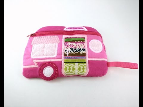 In The Hoop Camper Bag Tutorial - ITH Machine Embroidery