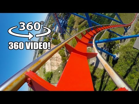 Superman Roller Coaster 360 VR POV Six Flags Fiesta Texas Virtual Reality