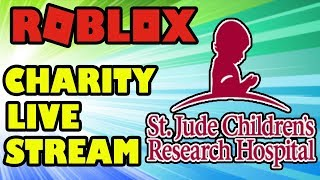 🔴 ROBLOX LIVE | 5 Hour Charity Live Stream for St.Jude's Children's Research Hospital | 50K Special